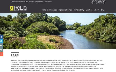 Screenshot of Terms Page kalialiving.com - Legal - Kalia Living - captured Oct. 6, 2014