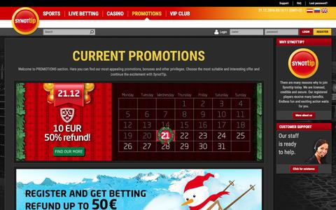 Screenshot of Signup Page synottip.lv - SynotTip Latvija | sports betting, casino - captured Dec. 21, 2016