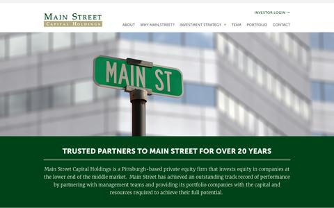 Screenshot of Home Page mainstcap.com - Main Street Capital | Trusted Partners to Main Street for Over 20 Years - captured Sept. 28, 2017