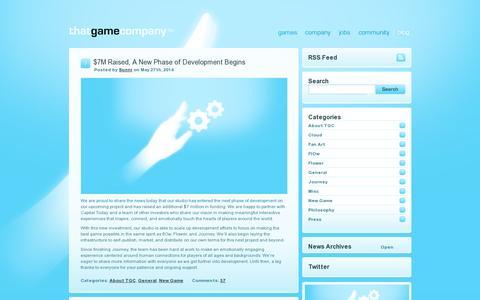 Screenshot of Blog thatgamecompany.com - thatgamecompany | TGC   » Blog - captured July 20, 2014