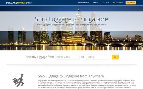 Ship Luggage to Singapore | Ship Suitcases to Singapore