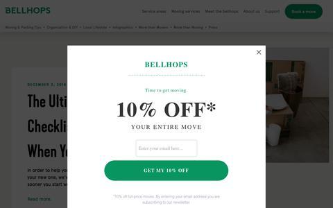 Screenshot of Blog getbellhops.com - The Bellhops Blog | Moving Tips, Moving Stories, and More - captured Sept. 22, 2019