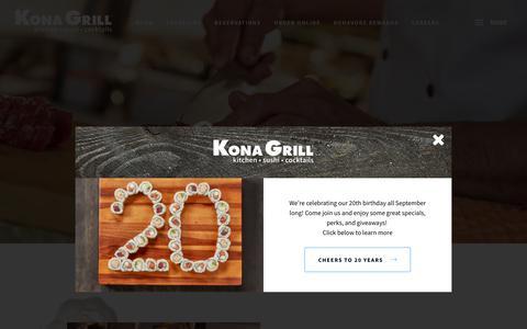 Screenshot of Jobs Page konagrill.com - Careers | Kona Grill | Start A Career With Kona - captured Sept. 20, 2018
