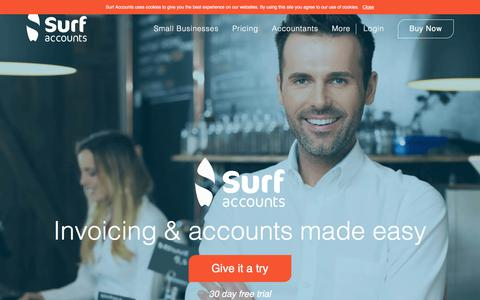 Screenshot of Home Page surfaccounts.com - Accounting Software Online | Surf Accounts - captured June 17, 2017