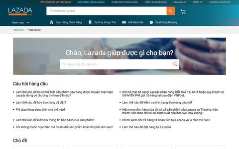 Screenshot of FAQ Page lazada.vn - Lazada VN Helpcenter - captured June 8, 2018