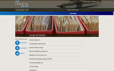 Screenshot of Case Studies Page thehalifaxgroup.com - Case Studies - The Halifax Group - captured Oct. 18, 2018