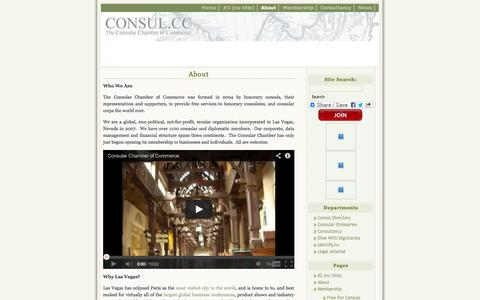 Screenshot of About Page consul.cc - About   Consular Chamber of Commerce - captured Oct. 9, 2014