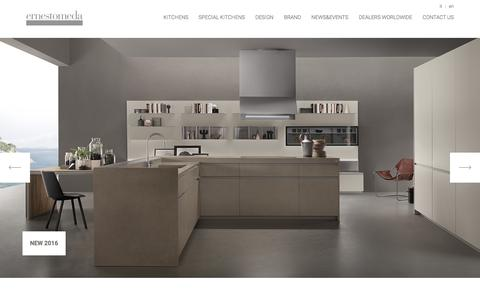 Screenshot of Home Page ernestomeda.com - Modern Kitchens Ernestomeda - The Italian Design Kitchens - captured Jan. 30, 2016