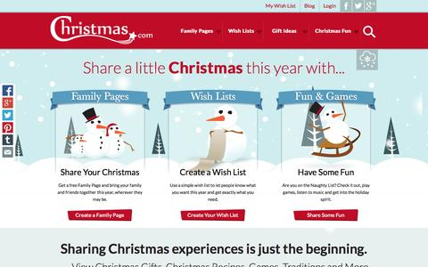 Screenshot of Home Page christmas.com - Christmas.com | OFFICIAL Site of Christmas - captured Sept. 23, 2014