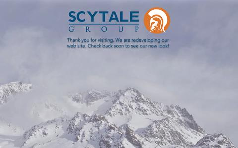 Screenshot of Home Page scytalegroup.com - mysite - captured June 16, 2017