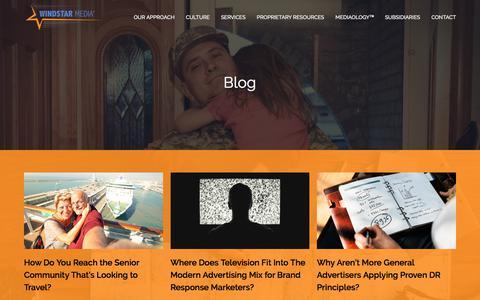 Screenshot of Blog windstarmedia.com - Marketing Strategy For Customer Acquisition | Blog | WindStar Media - captured Sept. 24, 2018