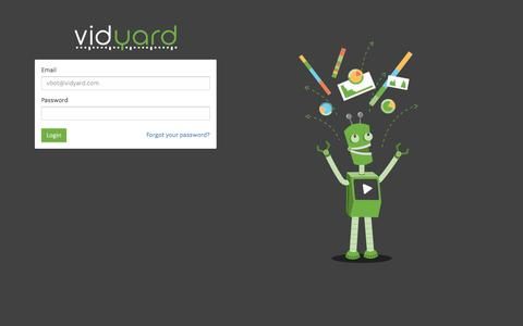 Screenshot of Login Page vidyard.com - Vidyard - Login - captured Nov. 25, 2015