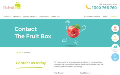 Screenshot of Contact Page thefruitbox.com.au - Contact | The Fruit Box - captured June 2, 2017