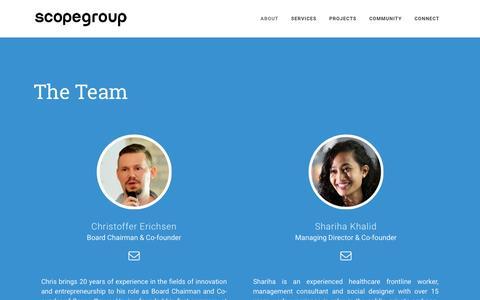 Screenshot of Team Page scopegroup.asia - Scope Group |   Team - captured Nov. 19, 2016