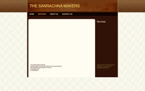 Screenshot of Services Page thesanrachana.com - THE SANRACHNA MAKERS - Services - captured Oct. 10, 2014