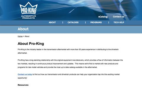 Screenshot of About Page Locations Page pro-kingproducts.com - About - Pro-King - captured Oct. 22, 2014