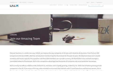 Screenshot of Jobs Page bizx.com - Careers – BizX - captured Oct. 27, 2016