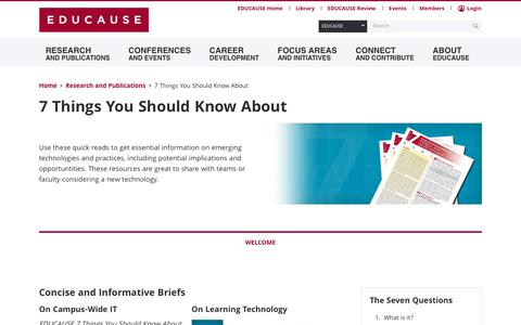 7 Things You Should Know About | EDUCAUSE