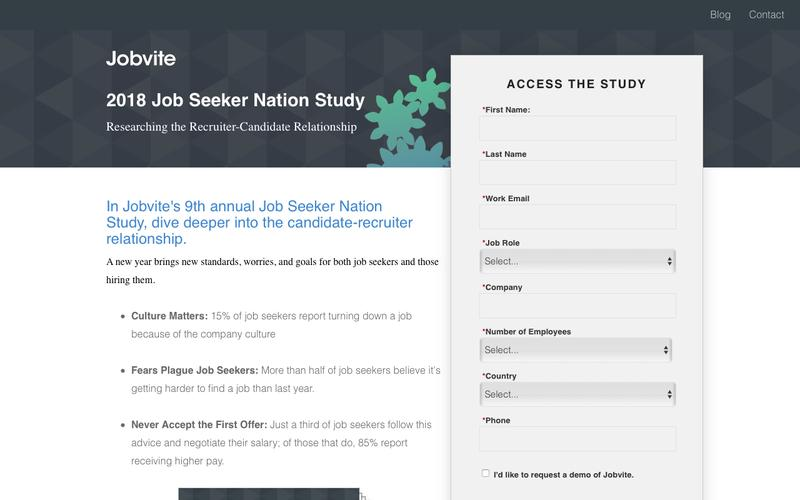 2018 Jobvite Job Seeker Nation Study: Researching the Recruiter-Candidate Relationship