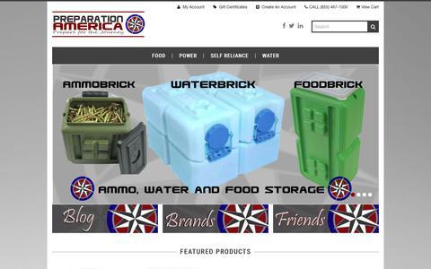 Screenshot of Home Page preparationamerica.com - Preparation America - captured Jan. 22, 2016