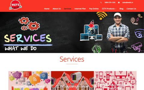 Screenshot of Services Page wefe.in - Services | Wefe Internet - captured Oct. 19, 2018