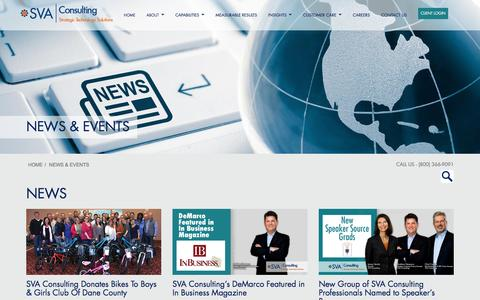 Screenshot of Press Page sva.com - SVA Consulting - News & Events | Madison Milwaukee Appleton WI - captured Jan. 13, 2017