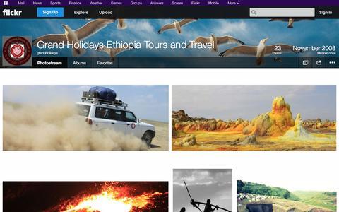Screenshot of Flickr Page flickr.com - Flickr: grandholidays' Photostream - captured Oct. 23, 2014