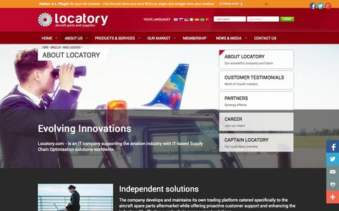 Screenshot of About Page locatory.com - About Locatory - Locatory.com - captured Oct. 3, 2014