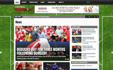 Screenshot of Press Page footballfoundout.com - News Archives • Football News - Football News - captured Sept. 30, 2014