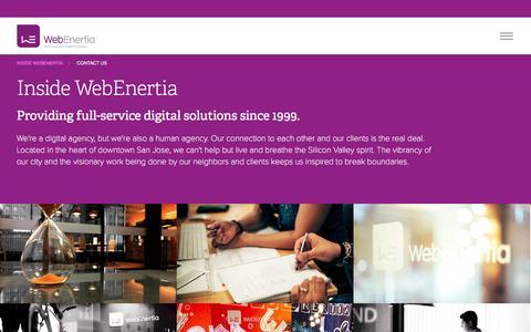 Screenshot of Jobs Page webenertia.com - WebEnertia   Inside WebEnertia - captured Nov. 5, 2014