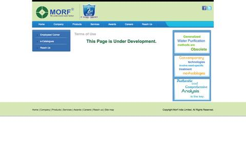 Screenshot of Terms Page morfindia.com - Morf India Limited | Terms of Use - captured Oct. 1, 2014