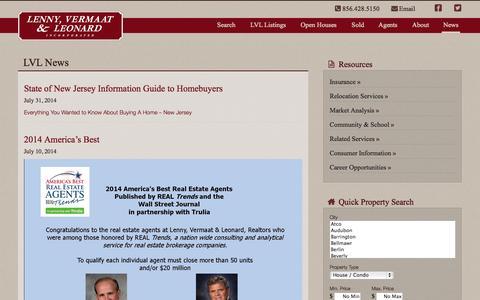 Screenshot of Blog Press Page lvlrealtors.com - Blog | Lenny, Vermaat & Leonard Inc. Realtors - captured Oct. 23, 2014