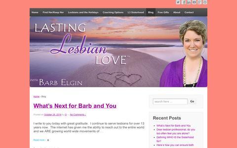 Screenshot of Blog lastinglesbianlove.com - Lesbian Therapy Blog - captured Nov. 2, 2014