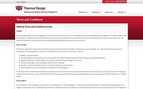 Screenshot of Terms Page thermaldesign.com - Thermal Design, Inc. - Steel Building Insulation Systems - captured Oct. 25, 2017