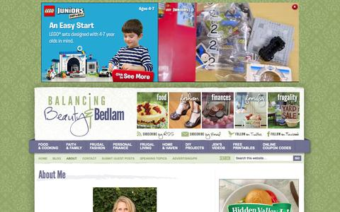 Screenshot of About Page beautyandbedlam.com - About Me - Balancing Beauty and Bedlam - captured Oct. 31, 2014