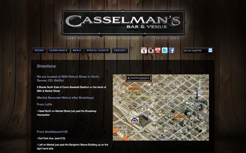 Screenshot of Maps & Directions Page casselmans.com - Casselman's Bar & Venue - captured Oct. 2, 2014