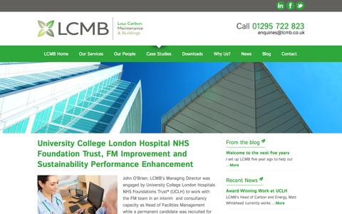 Screenshot of Case Studies Page lcmb.co.uk - Case Studies Archives - LCMB - Low Carbon Building Refurbishment | Low Carbon Building Maintenance | Building Maintenance Project Management - captured Nov. 2, 2014