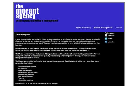 Screenshot of Team Page themorantagency.com - Athlete Management | www.themorantagency.com - captured Dec. 22, 2016