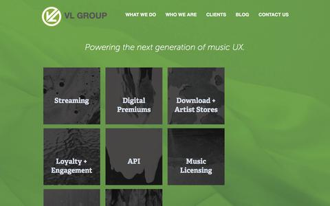 Screenshot of About Page Locations Page vlgroup.com - What We Do » VL Group | Digital Music Solutions - captured Nov. 21, 2016