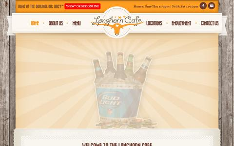 Screenshot of Home Page thelonghorncafe.com - The Longhorn Cafe | - captured Sept. 30, 2018