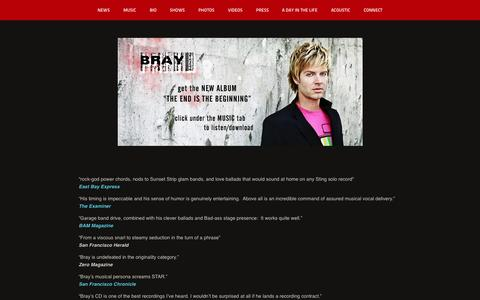 Screenshot of Press Page braymusic.com - QUOTES - Bray - captured Oct. 5, 2014
