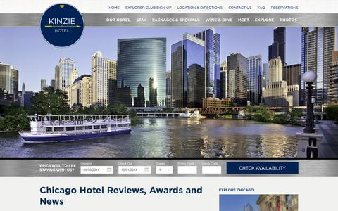 Screenshot of Press Page kinziehotel.com - Chicago Hotel Reviews | Best Chicago Hotels | Kinzie Hotel - captured Sept. 30, 2014