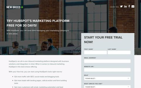 HubSpot Free Trial | New Breed