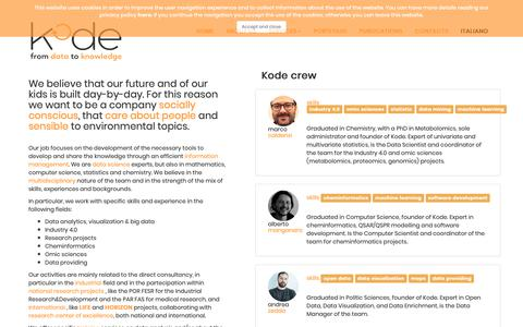 Screenshot of About Page kode-solutions.net - Kode - Company - captured Oct. 15, 2018