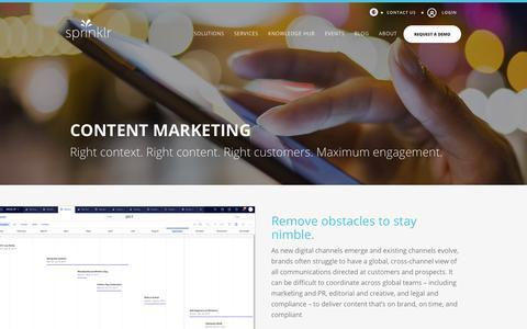 Content Marketing - Sprinklr
