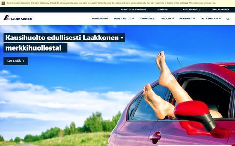 Screenshot of Home Page laakkonen.fi - Etusivu | Laakkonen - captured July 11, 2017