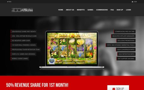 Screenshot of Home Page 400affiliates.com - Casino Affiliate Program | 400Affiliates - captured Sept. 4, 2015