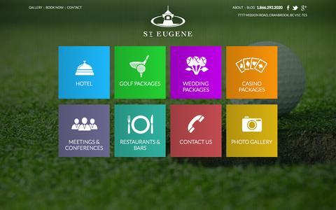 Screenshot of Home Page steugene.ca - St.Eugene - captured Oct. 6, 2014