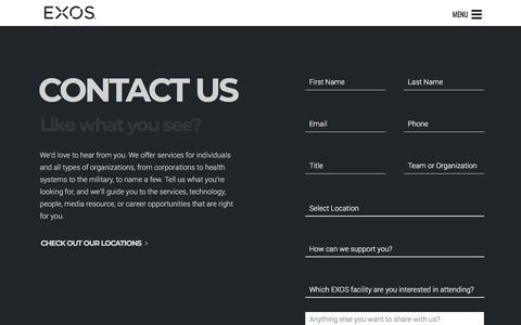 Contact EXOS
