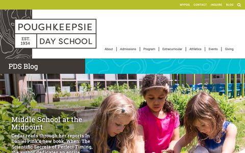 Screenshot of Blog poughkeepsieday.org - Poughkeepsie Day School | PDS Blog - captured Sept. 29, 2018